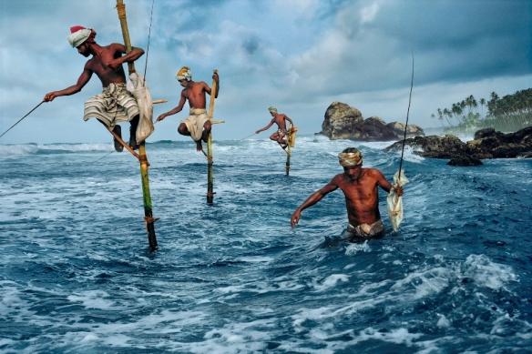 Fishermen, Weligama, South coast, Sri Lanka, 1995. Photo Steve McCurry.