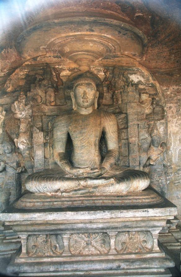 Vijjadhara Guha, Gal Viharaya, Polonnaruwa, Sri Lanka. Photograph Jerzy Strzelecki. This is a file from the Wikimedia Commons.